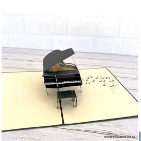 Grand Piano Pop-up Card