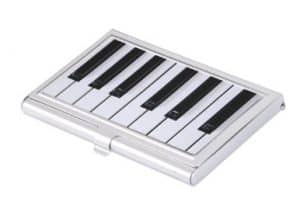 Piano-Themed Business Cardholder