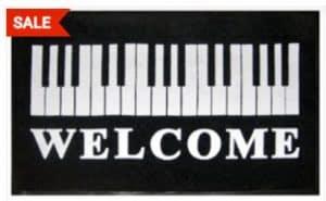 Piano-themed Door Mat