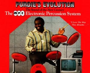 Person playing an mpc electonic drums