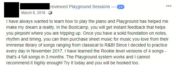 Playground Sessions Recommendation from Facebook