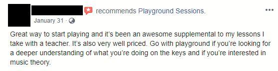 Playground Sessions Recommendation from Student on Facebook