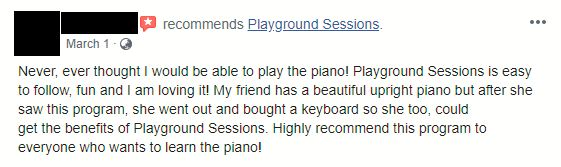 Playground Sessions Recommendation