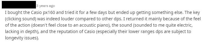 Casio PX-160 Review 3