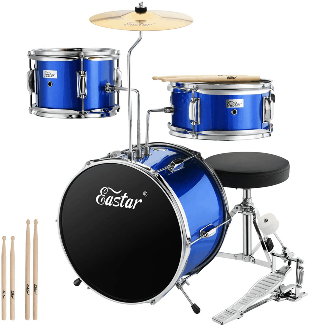 Eastar 14-inch 3-Piece Kids Drum Set
