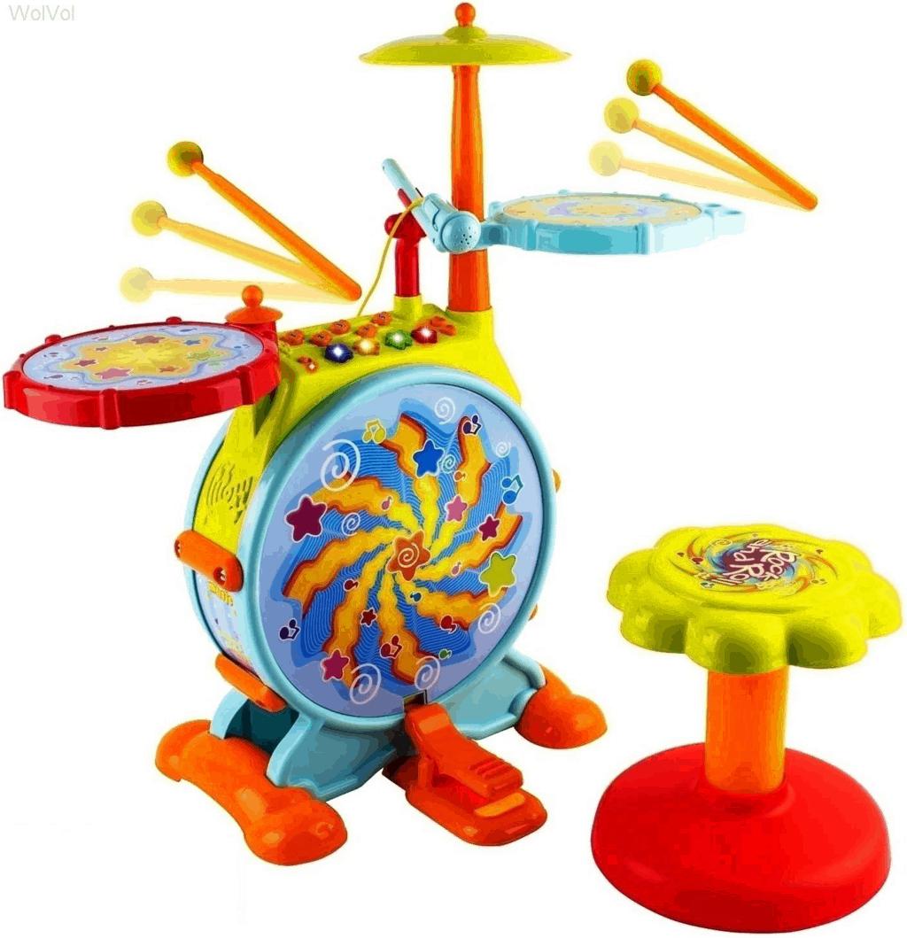 WolVol Electric Drum Set