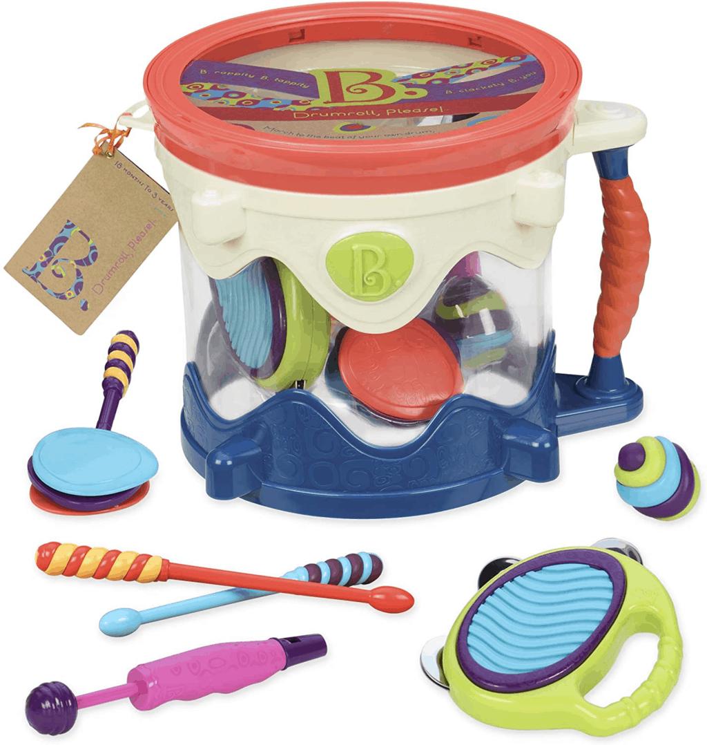 B. Toys by Battat B. Drumroll Toy Drum Set