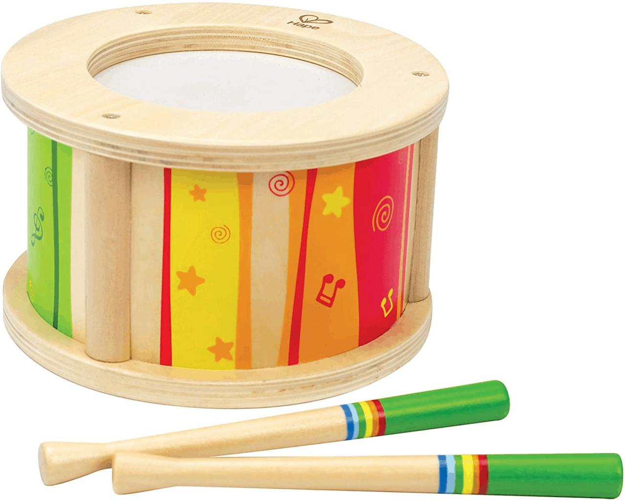 Hape Little Drummer Kids Wooden Drum Music Set